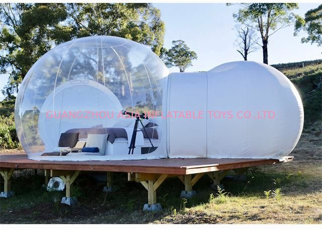 Commercial Inflatable Bubble Sphere Tent with Two Room one Tunnel for Sale