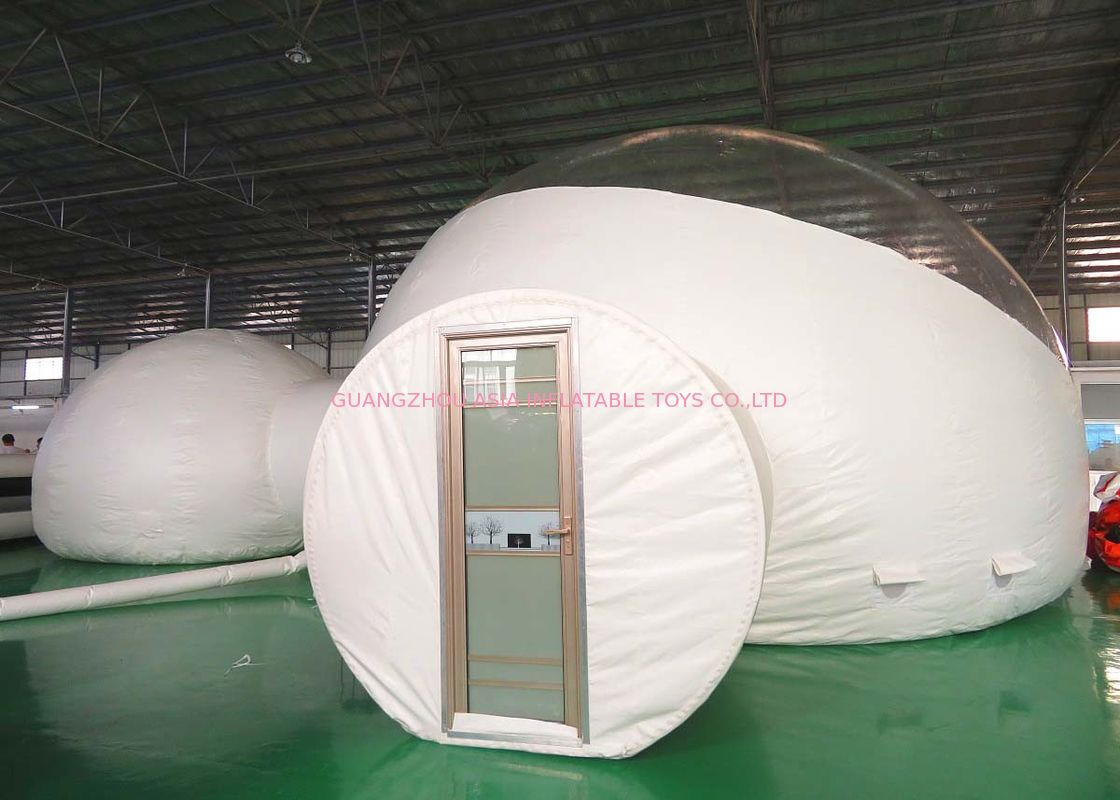 Two Rooms Luxury 8m Inflatable Bubble Tent With Hard Door For Hotel